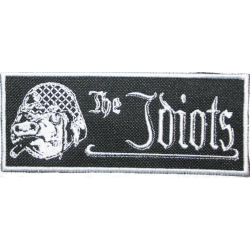 """The Idiots Patch (mit weißem Rahmen) """"Logo mit Schwein"""""""