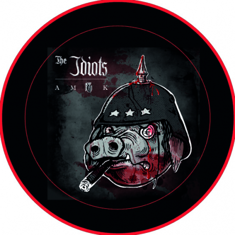 The Idiots - Amok Button groß 3,5 cm
