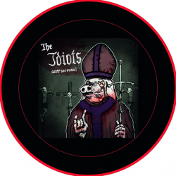 "The Idiots Button ""Gott sei Punk"" groß 3,5cm"